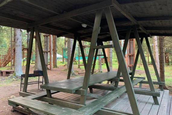 Беседки веревочного парка